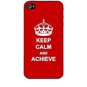 Skin4gadgets Keep Calm and ACHIEVE - Colour -Red Phone Skin for APPLE IPHONE 4S
