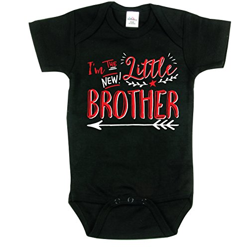 I'm the Little Brother Shirt, Brothers Shirt, Hipster Design, Black 3-6 mo (Im The Little Brother Shirt compare prices)