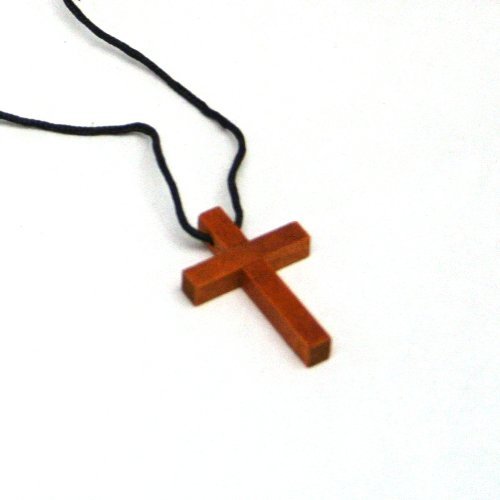 Fun Express - Wooden Cross Necklaces : package of 12