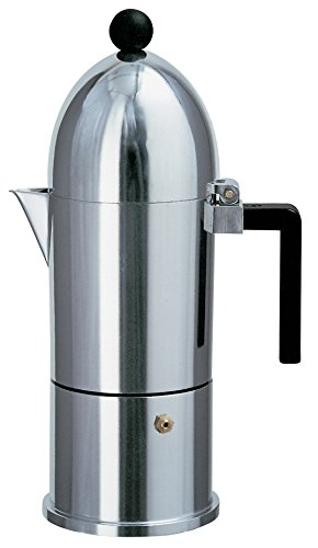 Alessi A9095/6 B La Cupola Espresso Maker With Black Handle 6 Cups