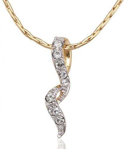 Lifestyle Infinity Lifestyle Gold Plated Crystal Lined Necklace For Women (751487G) (Transperant)