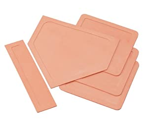 Buy Champion Sports Set of 5 Rubber Throw Down Bases by Champion Sports