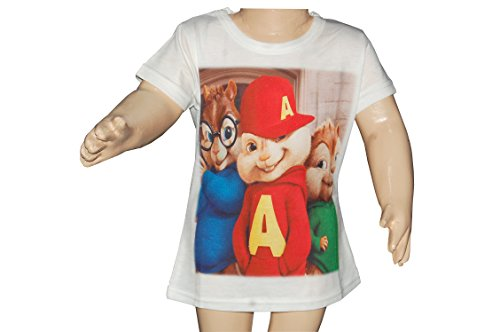 Disney Habooz Disney T-Shirt Alvin Simon Theodore For Boys (Multicolor)