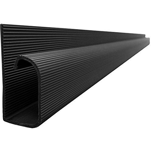 J Channel Cable Raceway – Black – 48″ Length