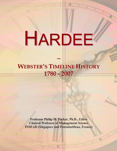 hardee-websters-timeline-history-1780-2007