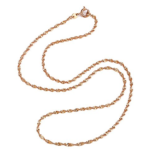 "Delicate Twisted Disco Simple Chain Necklace For Men & Women (18"")"