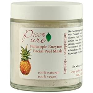 100% Pure Facial Peel, Pineapple Enzyme Facial Peel 2.0 oz (57 g) by 100% Pure