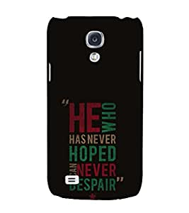 EPICCASE killing quotes Mobile Back Case Cover For Samsung Galaxy S4 Mini (Designer Case)