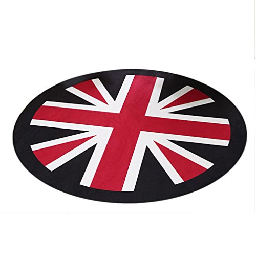 Iuhan Fashion Union Jack Round Antiskid 3D Ground Removable Waterproof Home Decor Mat (White) (British Car Mats compare prices)