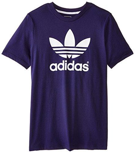 adidas Originals Boys' Trefoil Tee, Midnight Indigo Blue, Small