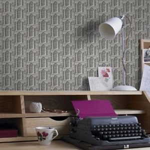 Graham and Brown Folly Wallpaper - Grey Stone from New A-Brend