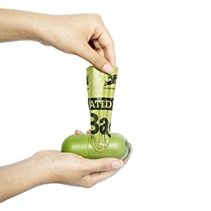 Earth Rated Green Dispenser with Dog Waste Poop Bags from Earth Rated
