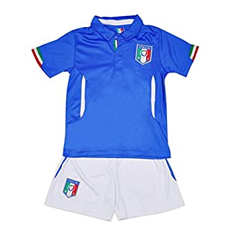 Click here to buy CM-CG Kids 2014 Italy Home World Cup Football Shirt Jersey & Shorts Set 4-13Y by CM-CG.