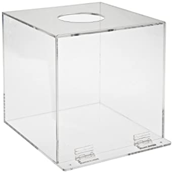 "Brady DPE Plastic Acrylic PPE Dispenser, Clear, 10"" H, 10"" W, 10"" D"