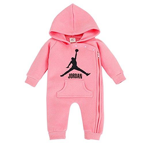 YISET Baby Clothing Long Sleeve Hooded Jordan Baby Rompers Jump Suit (19-24 Months)