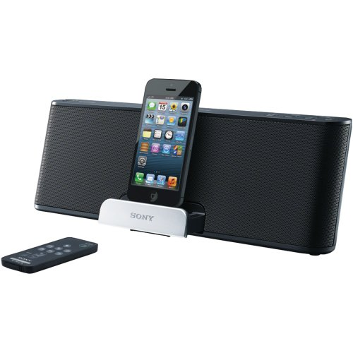 Sony Lightning Speaker Dock For Ipad, Ipod, And Iphone Compatible With Iphone 5, Ipod Touch 5Th Generation And Ipod Nano 7Th Generation, Ipad 4Th Gen, Ipad Mini, Includes Wireless Remote, Auxiliary Audio Input, Rechargeable Battery & Integrated Bass Boost