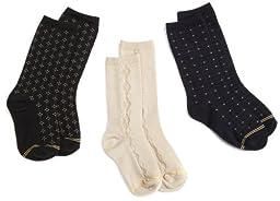 Gold Toe Big Boys\' 3 Pack Dress Fashion Sock, Assorted, Medium