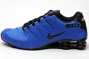 Nike Mens Shox NZ HYPER COBALT/Metallic Silver/Black 378341-400 8.5