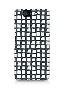 Amez designer printed 3d premium high quality back case cover for Micromax Canvas Knight A350 (Black n White Pattern)