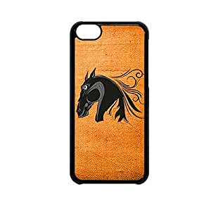 Vibhar printed case back cover for Apple iPhone 5c HorseVector