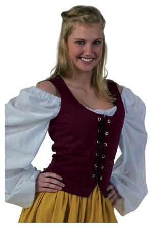 Twill Bodice Burgundy (Large)