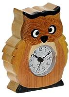 Alarma Reloj de Búho: Regalo Idea de Navidad Madera Artesanal (altura aprox. 12cm). Top Regalos pintados a mano para Niños y adultos! 1 de 12 animales y diseños de transporte marca All My Gift Ideas