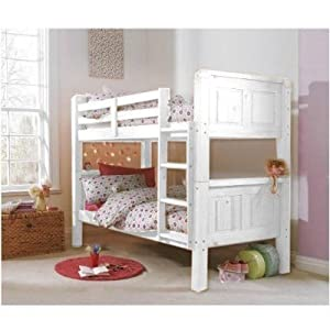 Cloudseller 3FT SOLID PINE BUNK BED IN WHITE FINISH SPLIT INTO TWO BEDS EXCEL