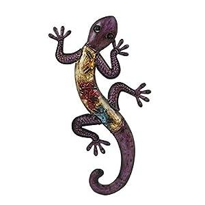 Large Metal Wall Art Hanging Gecko