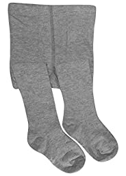 DZSbestdeal Baby Girls\' Seamless Organic Cotton Tights Grey 0-6Month
