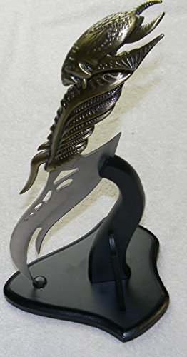 Fantasy Limited Edition Gold Alein Kit Rea Like Shadow Slayer Dagger Bowie Collectibe Knife & Display Stand