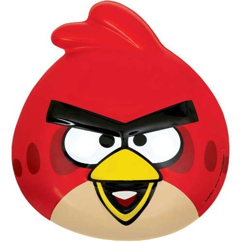 Amscan Angry Birds Birthday Party Mask, Red