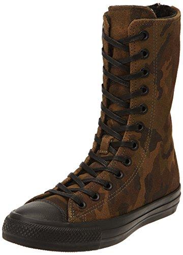 Converse, All Star X-Hi Zip Suede Print Sneaker,Donna, Multicolore (Cm/Black), 39