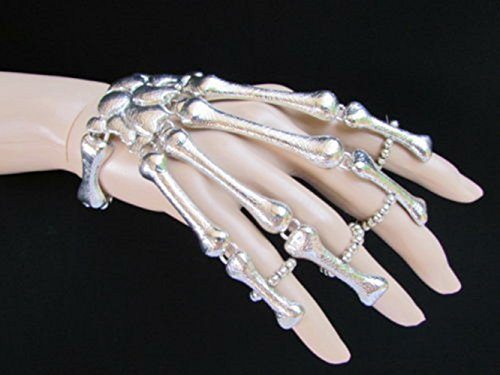 punk-bracelet-bangle-slave-ghost-skeleton-chain-finger-rings-hand-harness-siver-bohemian-boho-vintag