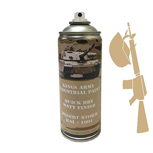 kings-army-desert-storm-industrial-military-matt-spray-paint-ral-1001-400ml-military-vehicle-paint-a