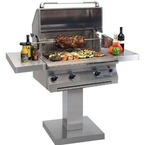 Solaire Gas Grills 30 Inch Infravection Natural Gas Grill With One Infrared Burner And Rotisserie On Bolt Down Post