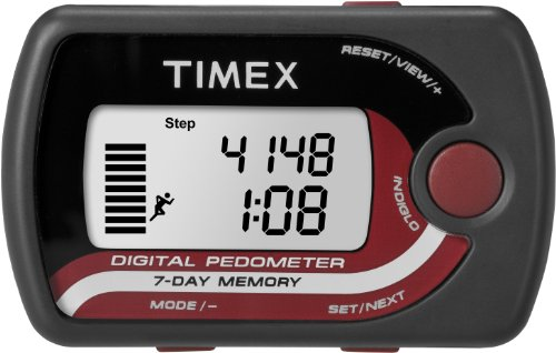 RYND9J Timex T5K632 Pedometer Accelerometer Gray/Black/Red