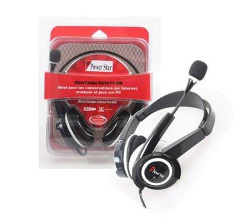 Casque USB PRO Confort Audio Steréo avec Microphone idéal pour skype/messenger et les Jeux PC
