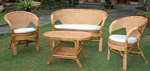 Salotto in rattan da arredo giardino per esterno tavolo - Cuscini da esterno amazon ...