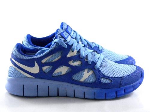 NikeNike Women's NIKE FREE RUN 2 EXT WMNS RUNNING SHOES 8 Women US (LIGHT BLUE/SAIL/HYPER BLUE)
