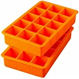 Tovolo Perfect Cube Ice Trays, Orange Peel - Set of 2