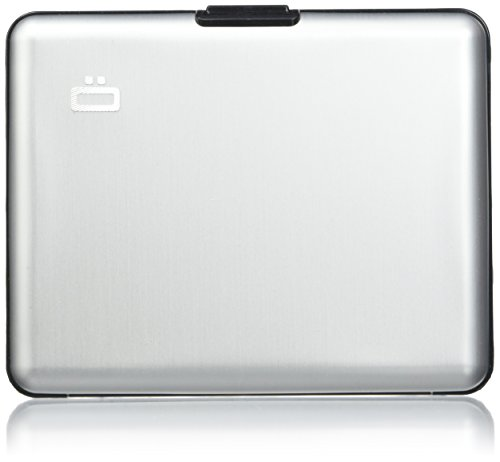 Portefeuille Big Stockholm Gris argent Aluminium anodisé Ögon designs BS-Silver