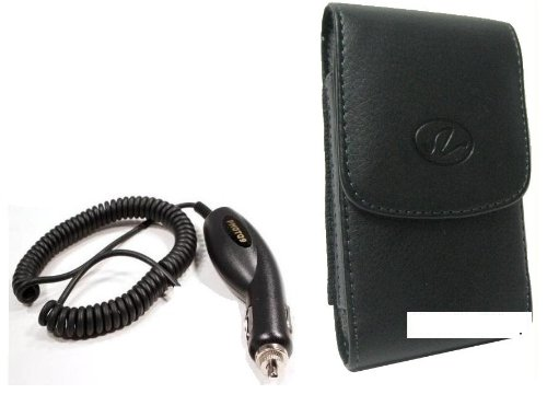 New Vertical Leather Case Cover Pouch With Belt Clip Holster And Vehicle Car Plug-In Charger For Verizon Lg Lucid Cayman - Lg Vs840 - Lg Lucid 4G Cell Phone - Bestcellbuy Brand