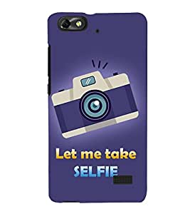 Let Me Take Selfie 3D Hard Polycarbonate Designer Back Case Cover for Huawei Honor 4C :: Huawei G Play Mini