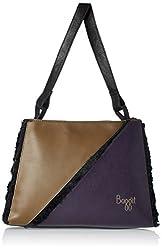 Baggit L Fleece Fur Womens Satchel Handbag (Black)