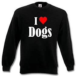"""Children Sweater """"I Love Dogs"""" different Colors 104 - 116 - 128 - 140 - 152 - 164"""