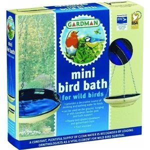 Gardman BA01124 Mini Glazed Bird Bath - Blue