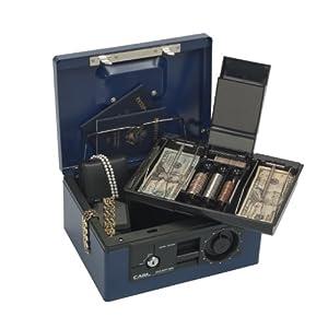 CARL CB-8650 Dual Lock Security Box, Blue