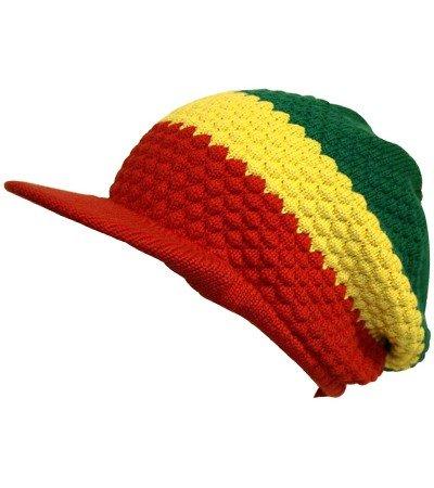 Schirmmütze Mütze Wintermütze Strickmütze Baggie Beanie hat cappello Rasta Farbe