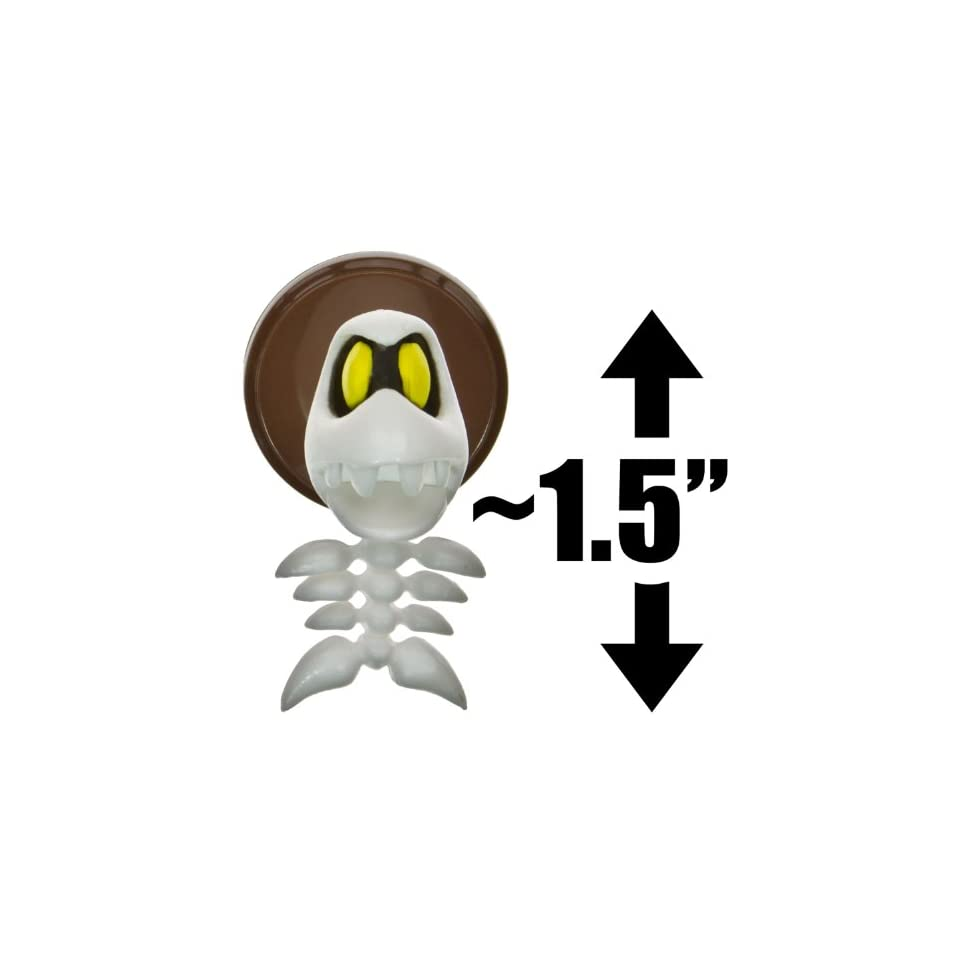 Fishbone ~1.5 Mini Figure [New Super Mario Bros. Wii Choco Egg Series   NO CANDY] (Japanese Import)