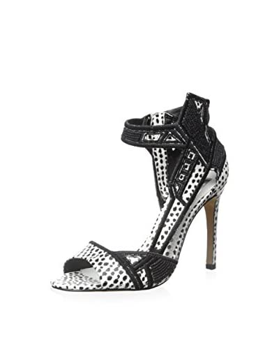 DV by Dolce Vita Women's Havoc High Heel Sandal  [Black/White]